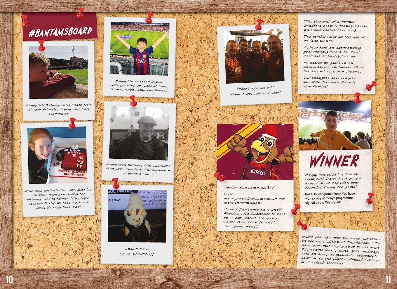 PUBLISH YOUR MESSAGE IN THE PARADER - News - Bradford City