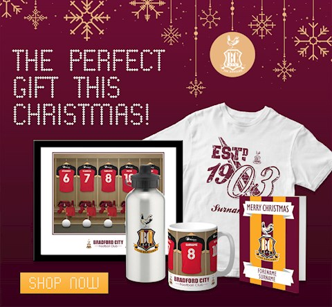 PERSONALISED BRADFORD CITY MERCHANDISE